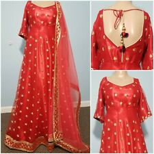 READY TO WEAR  LEHENGA SALWAR GOWN PROM PARTY WEDDING LONG INDIAN DRESS MEDIUM