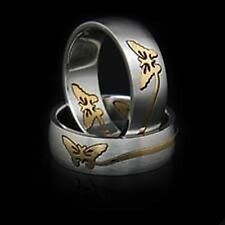 Butterfly Ring Stainless Steel  8, 9, 10, 11