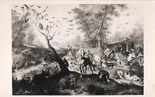 Postcard Brueghel Noahs Ark Rppc Walters Art Gallery Baltimore c1939-50