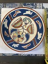 vintage ceramic glazed plate 1973