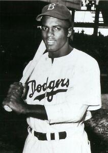 Jackie Robinson--Brooklyn Dodgers--Glossy 5x7 B&W Photo