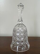 """Vintage Crystal Clear Glass Bell 'Button and Cane"""" Pattern 7"""""""