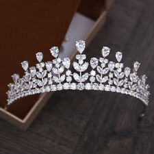 Luxury AAA Cubic Zirconia Tiara Crown Wedding Clear Zircon Headband Jewelry Gift