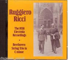 Ruggiero Ricci The 1938 Electrola Recordings / Beethoven,Bach, Paganini Etc - CD