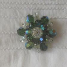 Rhodium Plated Brooch/Pin Crystal Vintage & Antique Jewellery