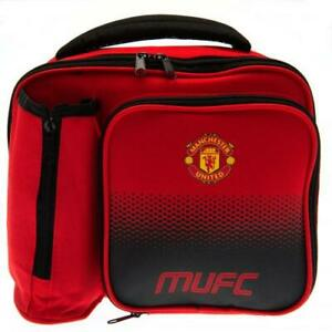 Manchester United Football Club Fade School Lunch Bag Box With Bottle Holder