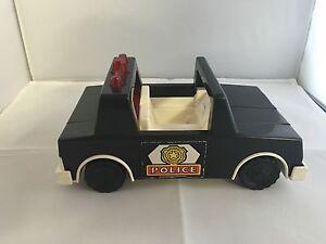 1981 - 84 Vintage Fisher Price Husky Helpers #332 POLICE PATROL SQUAD CAR