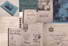 1950 YORKVILLE,Mi Fv.RECIPES:COOK BOOK;CHURCH;richland augusta ADS OLD phone #'s