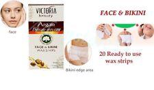 Victoria Beauty Delicat Skin Care Face & Bikini Wax Strips with ARGAN 20 pcs