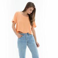 Obey Womens Essex Woven Shirt Orange M New