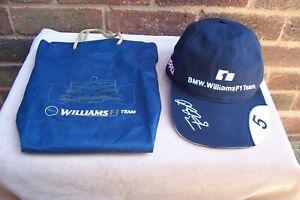 WILLIAMS F1 TEAM RALF SCHUMACHER ( NO.5 )  BASEBALL CAP + BAG NEW
