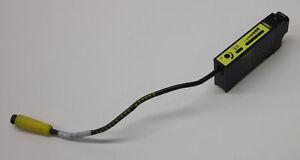 Banner 33715 Glass Fiber Optic Sensor D12SP6FVQ, Damaged DIN Mounting Clip(s)