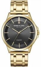 Men's Kenneth Cole New York Genuine Diamond Dial Gold Tone Watch KC50208007