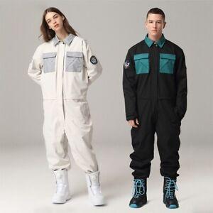 Ski Suit Jumpsuit Jacket Pants Winter Warm Waterproof Skiing Snowboarding Suit