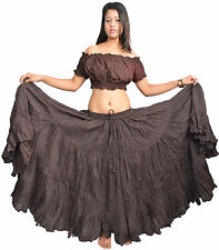 Wevez New Colorful 25 Yard Tiered Gypsy Cotton Skirt ATS Belly Dance