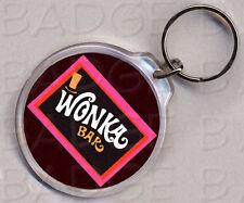 WONKA BAR round keyring  DOUBLE SIDED - Classic!