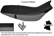 GREY & BLACK CUSTOM FITS HONDA FMX 650 05+ REAL LEATHER SEAT COVER