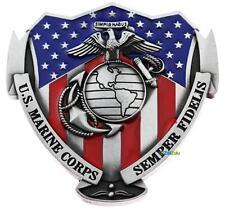 US Marine Corps Semper Fidelis USA Flag Belt Buckle