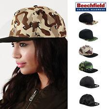 Beechfield Camo Snapback - Army Style urban camouflage baseball cap men/women