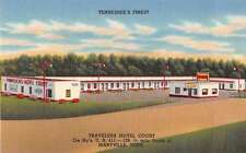 Maryville Tennessee Travelers Hotel Court Linen Antique Postcard J53020