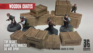 10 x Resin Wooden Crates scenery