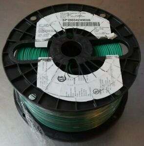 1000' 1015BC-14/41-5, 14 AWG, 41 Strands BC, 600V, PVC Green Hook Up Wire