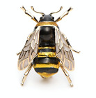 VERY REALISTIC BUMBLE BEE BROOCH INSECT BLACK GOLD LAPEL PIN BROACH FASHION UK