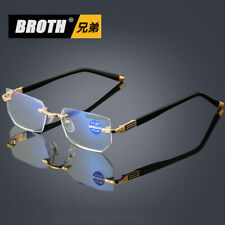 Quality Rimless Diamond Cutting Reading Glasses Coating Lens Readers +1.00~+4.00