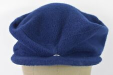 Navy Blue Can Am Hockey LK Placid News Boy Paper Boy Style Cabby Hat Cap Fitted