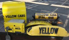 VTg.YELLOW CAB TAXI /CALL BOX/METER/WALL LIGHTED YELLOW CAB/ECT.•1943 CHICAGO.