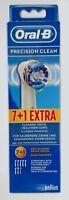 8 x BRAUN Oral B Precision Clean Aufsteckbürsten - NEU & OVP