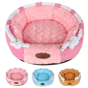 Warm Fleece Small Dog Bed Indoor Cat Bed Cotton Padded Sleeping Cushion Washable