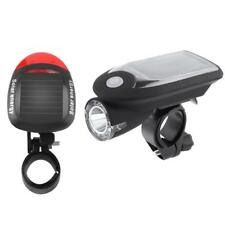 Solar Power/USB Charging Bicycle Cycling 240LM LED Bike Headlight+ Taillight Set