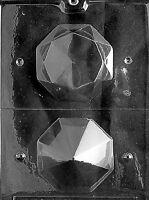 W026 Lrg 3D Diamond Bridal Shower Wedding Chocolate Candy Soap Mold