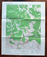 Glenwood Springs Colorado Vintage 1930 USGS Topo Map Flat Tops Topographical