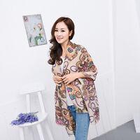 Chic Women Long Soft Chiffon Scarf Wrap Large Silk Winter Shawl Stole Scarf New