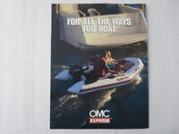 1996 OMC Express Inflatable Boat Sales Brochure 240 245 265 305 335 380