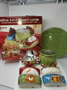 JC Penney Home Festive 3-In-1 Dessert Center Christmas