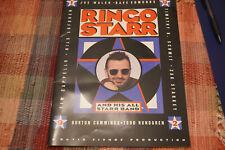 RINGO STARR ALL-STARR BAND 6/2/92 PROGRAM SUNRISE MUSICAL THEATRE REDUCED!