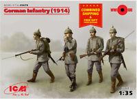 ICM 35679 - 1/35 German Infantry WWI (1914) , 4 figures model kit