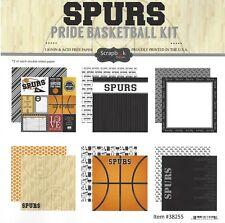 SC - Spurs Basketball Scrapbooking Paper KIT - 12 pages - 12 Designs