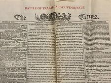 Souvenir Copies Of The Times Newspaper Battle of Trafalgar and Nelsons Funeral