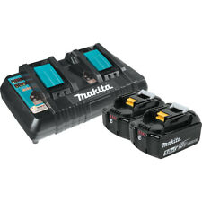 Makita BL1850B2DC2 18V Battery and Dual Port Charger Starter Pack (5.0Ah)