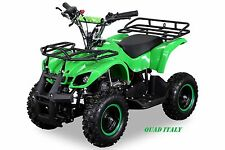 "Miniquad 50 cc Minihummer torino ruote da 6"" telecom. limit verd OFFER. LIMITATA"
