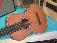 1930's Vintage Supertone Harmony parlor guitar Solid Mahogany Spruce G Cond 20's