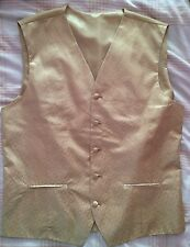 "Fantastic Men's Gold NEXT waistcoat Size 40"" Chest"
