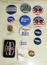 Vtg 1980s 90s Ronald Reagan Bush Mondale Ferraro Cheney Presidential Button Lot
