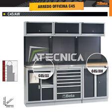 Allestimento arredo officina Beta C45/AW piano in legno L2000 cassettiera serviz
