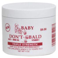 BABY DON'T BE BALD TRIPLE STRENGTH HAIR AND SCALP NOURISHMENT (4oz & 8oz)