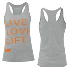 Myprotein Women's Performance Tank Top / Gray & Orange / Live Love Lift / Size S